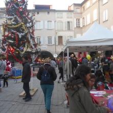 Fête de fin d'année place des arcades
